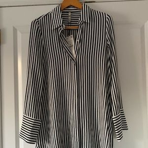 Zara Ladies Black White Oversized Shirt/Dress